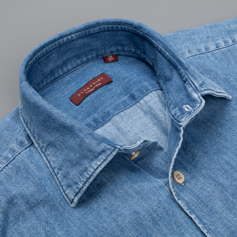 Glanshirt Kurt Denim stonewash
