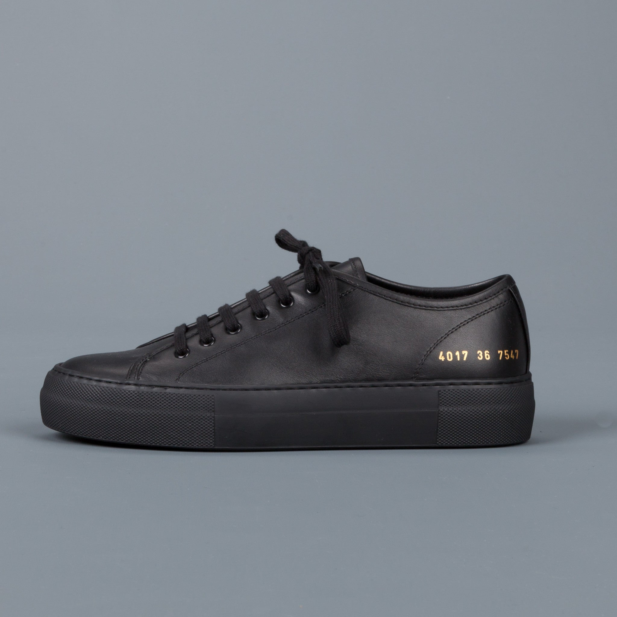 new woman by common projects tournament low super in leather black frans boone store. Black Bedroom Furniture Sets. Home Design Ideas
