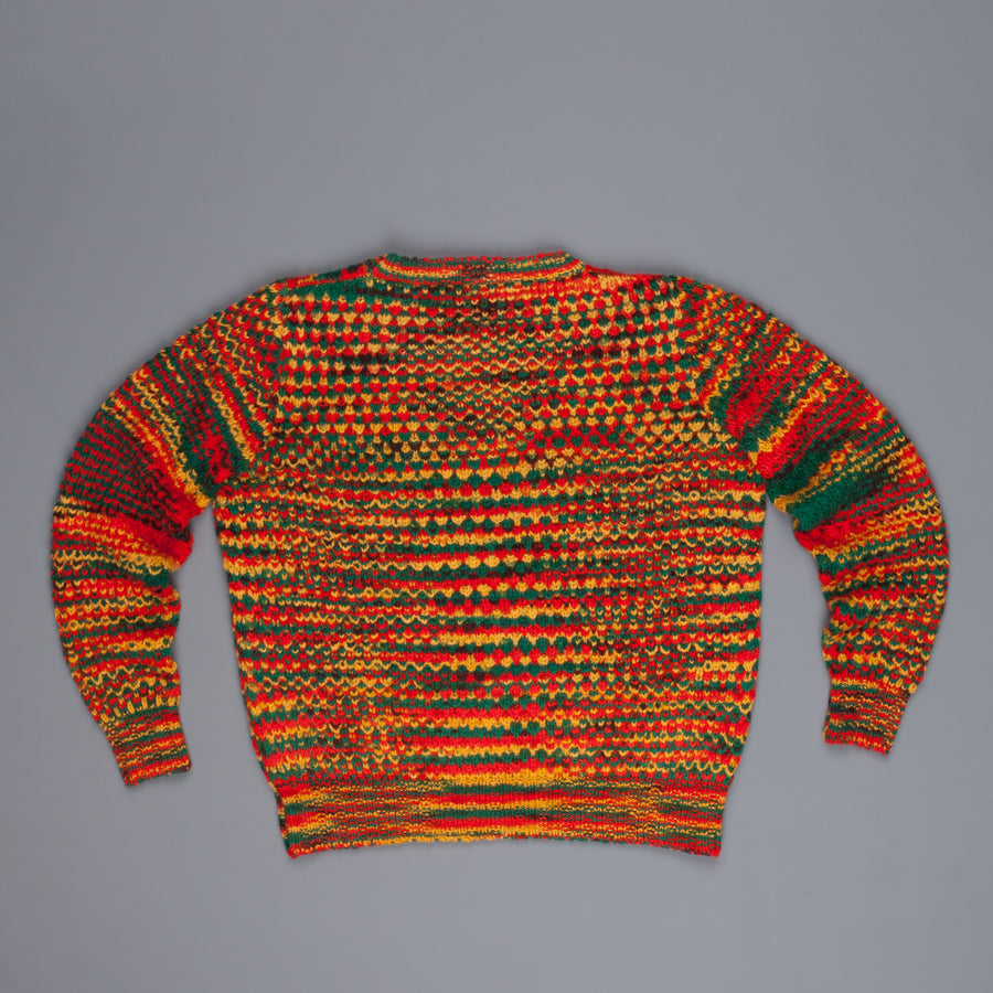 The Elder Statesman 100% cashmere tuck pop crew Rasta
