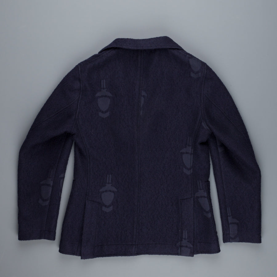 The Gigi Angie jacket navy wool fleece Gigi pattern