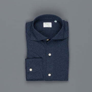 Finamore Toronto fit collo Simone Cotton/Cashmere Blu