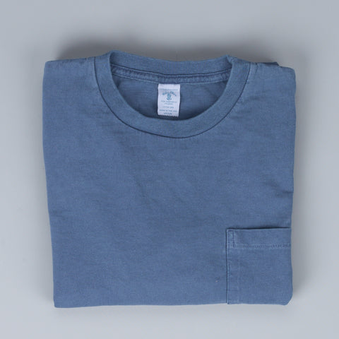 Velva Sheen LS pocket tee pigment dyed Navy