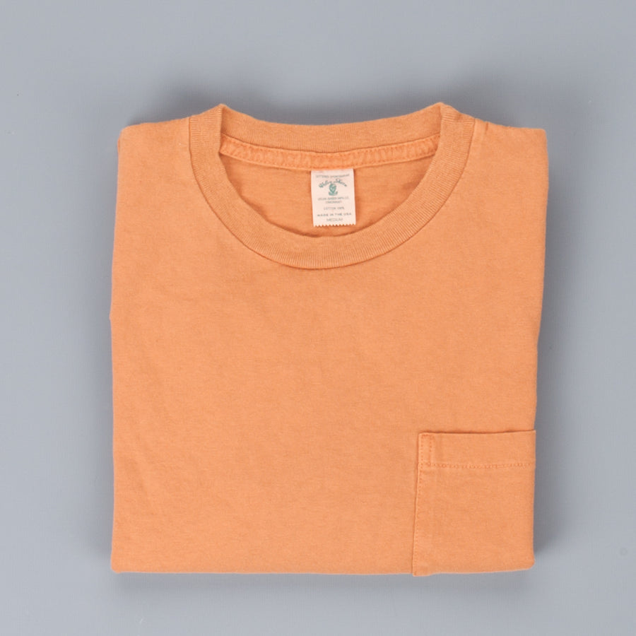 Velva Sheen LS pocket tee pigment dyed Moca brown