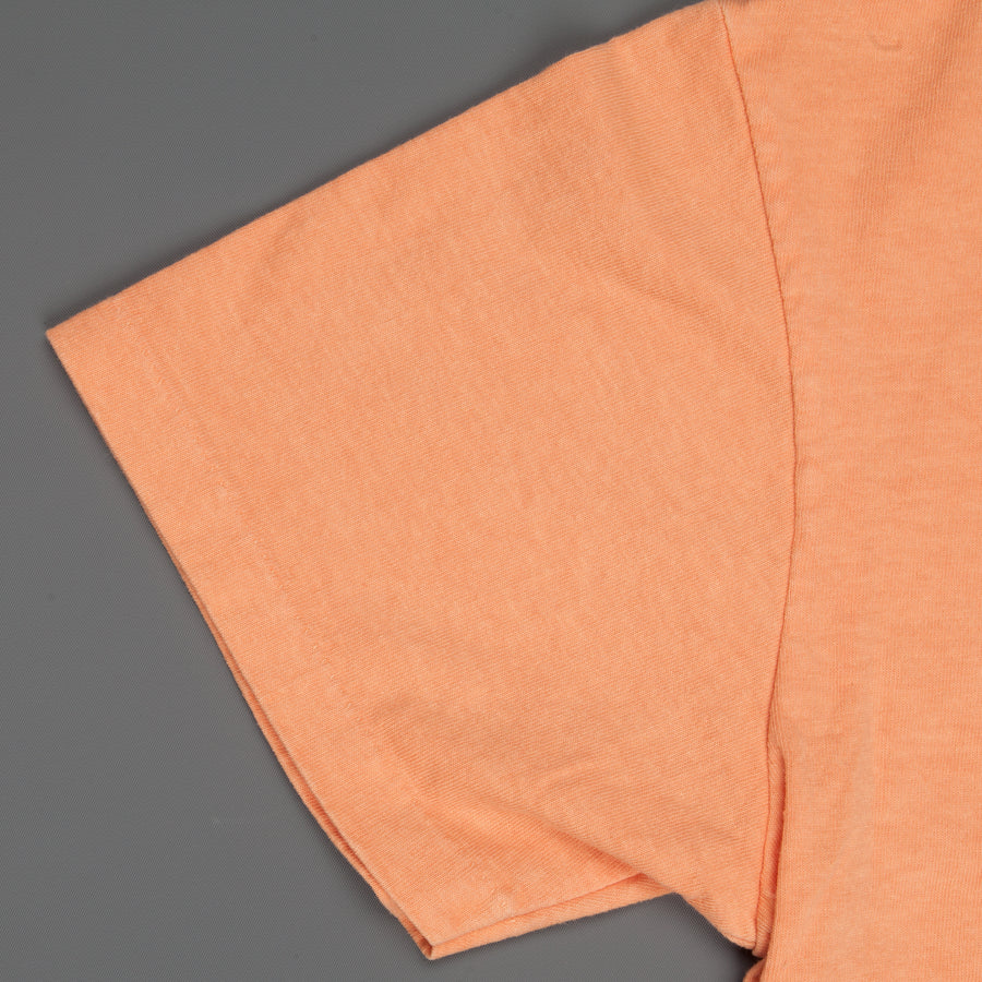 Velva Sheen SS Crew Neck Pocket Tee Pigment Dyed Orange