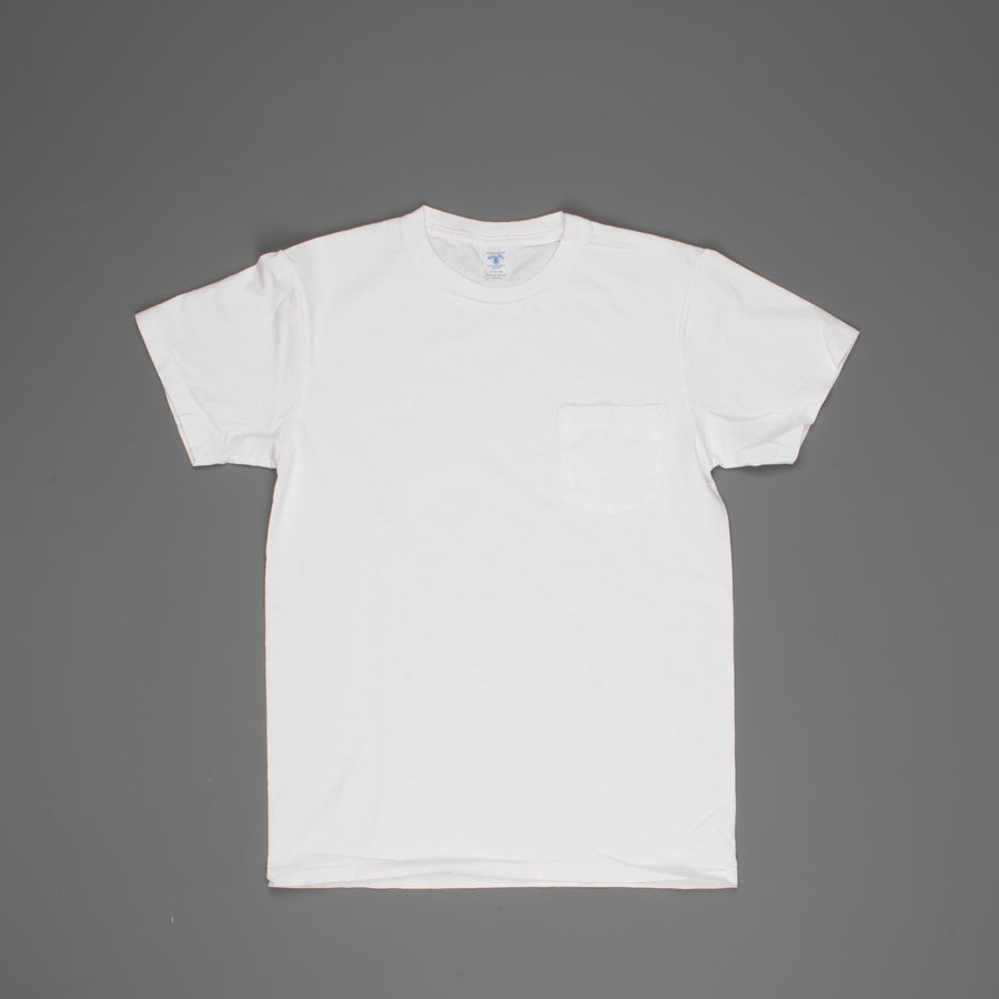 Velva Sheen SS Crew Neck Pocket Tee Pigment Dyed Optical White