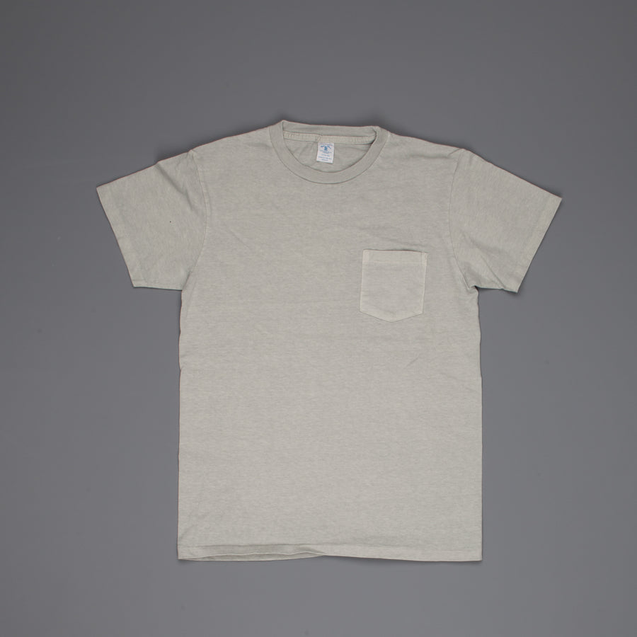 Velva Sheen SS Crew Neck Pocket Tee Pigment Dyed Haze
