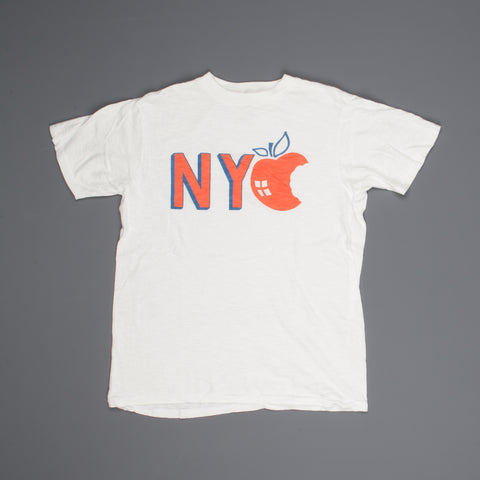 "Velva Sheen SS Crew Neck ""NYC"" Print in White"