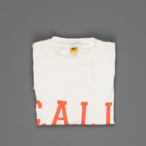 "Velva Sheen SS Crew Neck ""C.A.L.I."" Print in White"