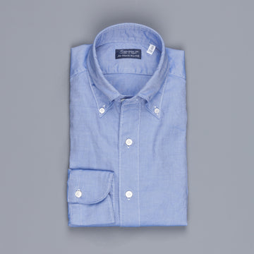 re stocked! Finamore Tokyo shirt washed oxford button down Lucio collar in darkblue