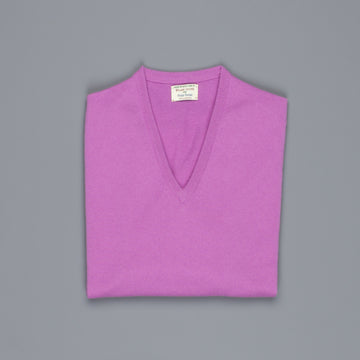 William Lockie Oxton Cashmere V-Neck Thistle