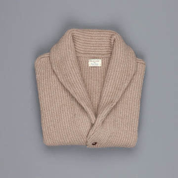 William Lockie Windsor Cashmere Shawl Cardigan Dark Natural