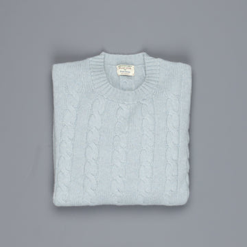 William Lockie Chirnside Cashmere Cable Crew Neck Haar
