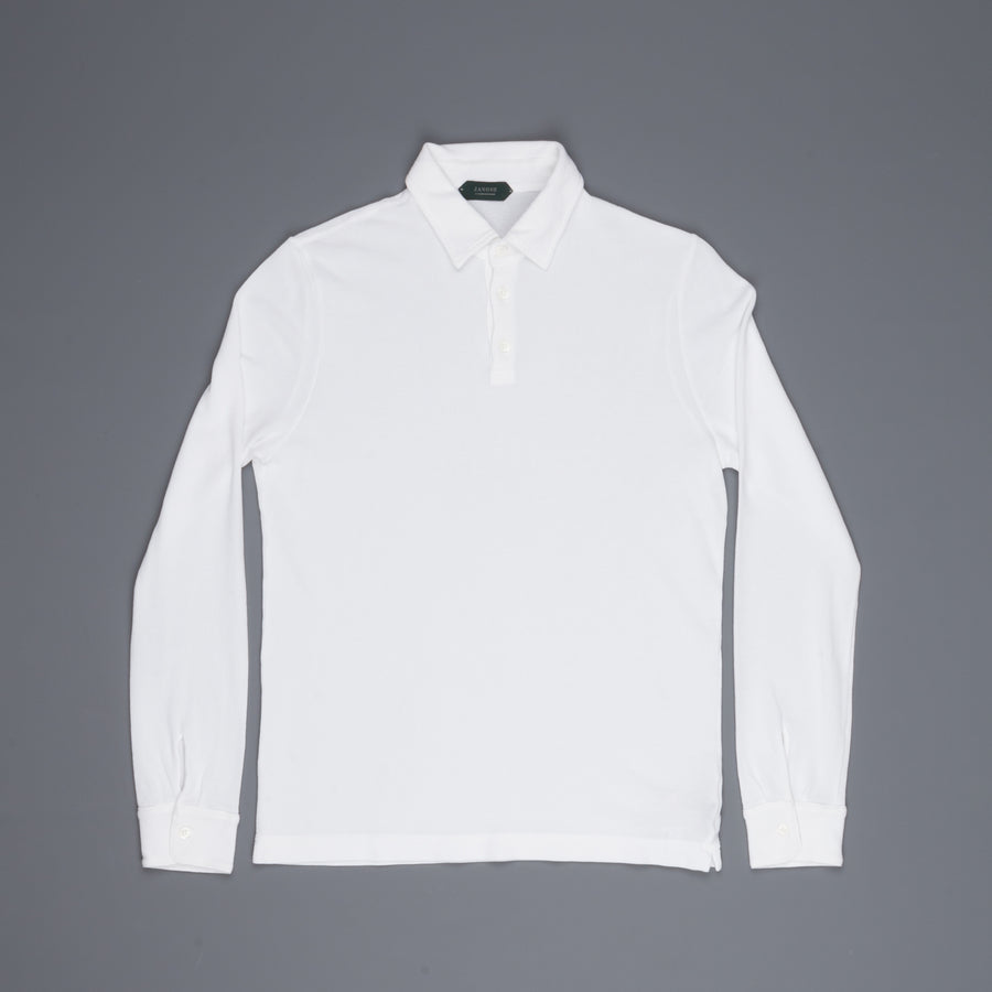 Zanone ML Polo Ice Piquet Bianco Frans Boone Store Exclusive