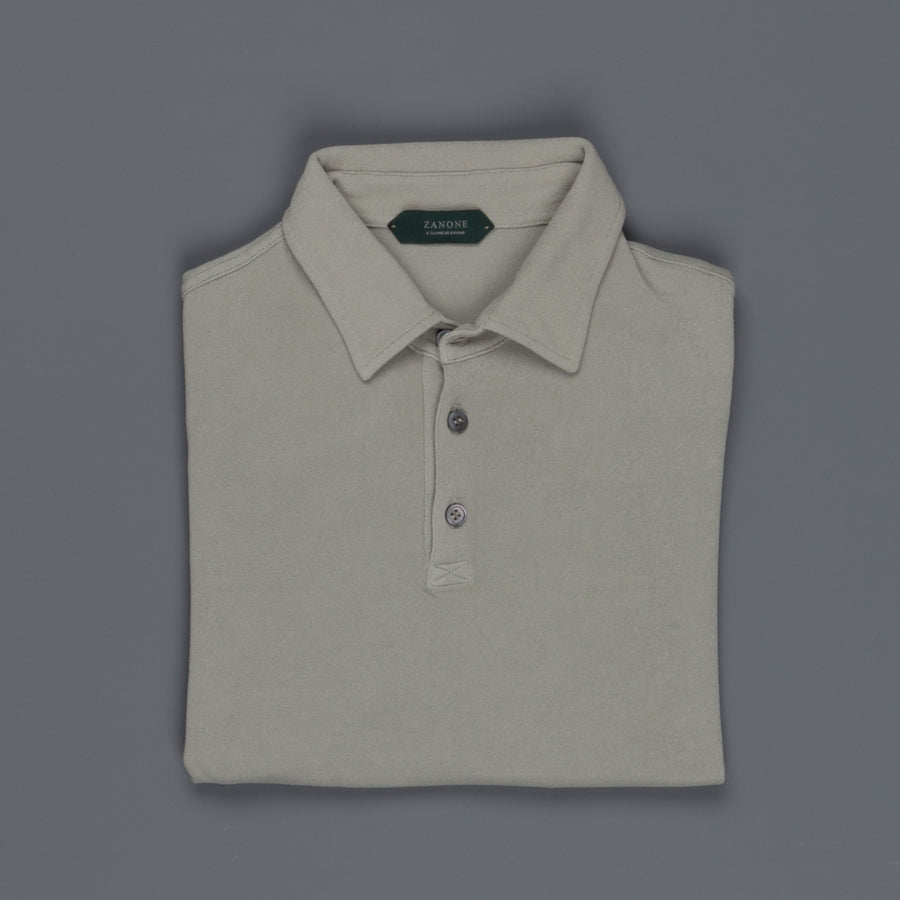 Zanone ML Polo Ice Piquet Grigio Medio Frans Boone Store Exclusive