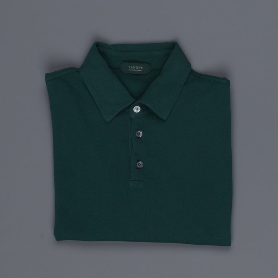 Zanone ML Polo Ice Piquet Verde Scuro Frans Boone Store Exclusive