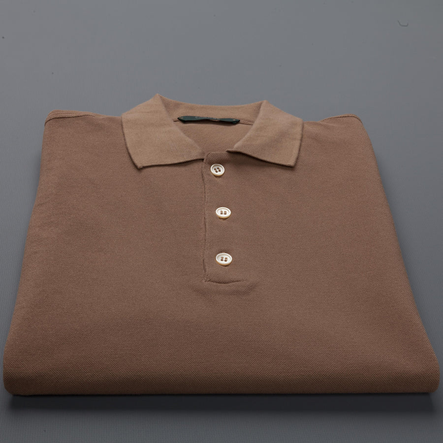 Zanone Polo Coste Ice Piquet Beige Medio