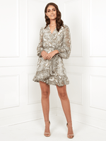 DIONNE MINI WRAP DRESS