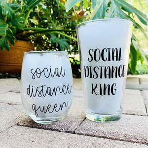 Social Distance King and Queen Set
