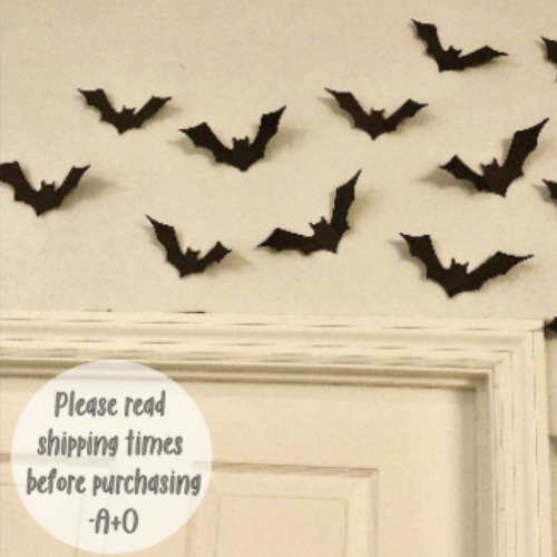 Card stock bat wall decor