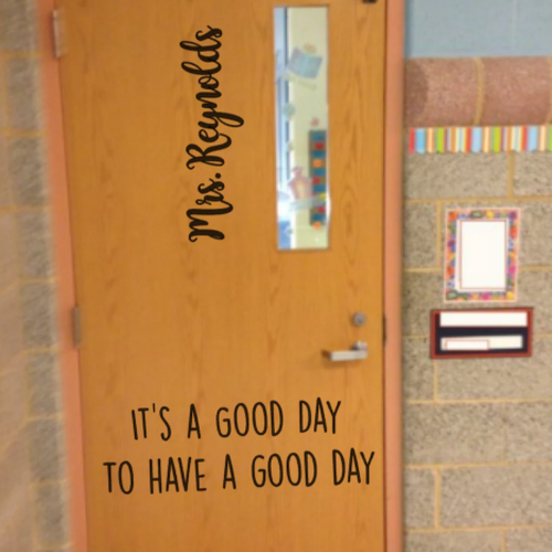 Classroom Door Decal-Inspiration