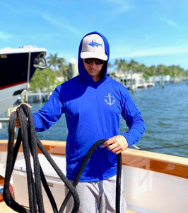 White Marlin Release Flag Long Sleeve Hoodie