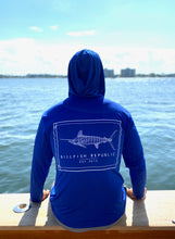 Load image into Gallery viewer, White Marlin Release Flag Long Sleeve Hoodie