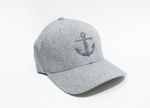 Light Heather Grey Anchor Flexfit Delta Fitted