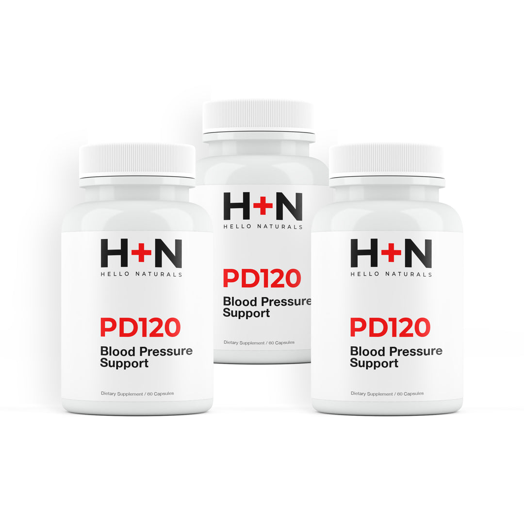 Blood Pressure PD120® Natural Supplement 3 Month Supply