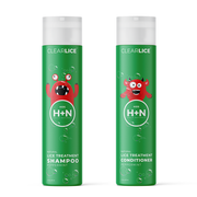 Natural head lice treatment shampoo and conditioner duo. Get rid of lice today
