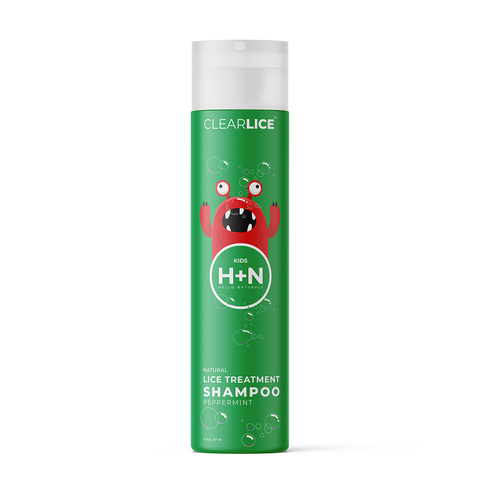 Natural head lice treatment shampoo. Get rid of lice from your kids head.