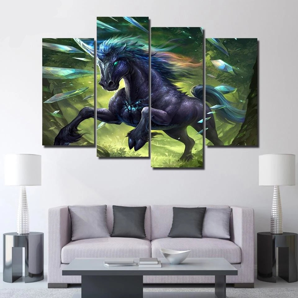 4 piece canvas art HD print alien movie poster prismatic unicorn painting paintings for living room wall free shipping/ UP-2305C Tableau je-suis-une-licorne.com