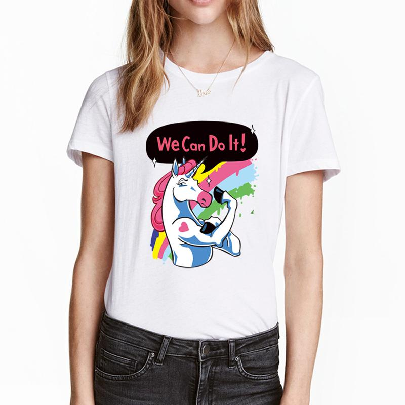T-shirt licorne femme - We can do it T-shirt je-suis-une-licorne.com