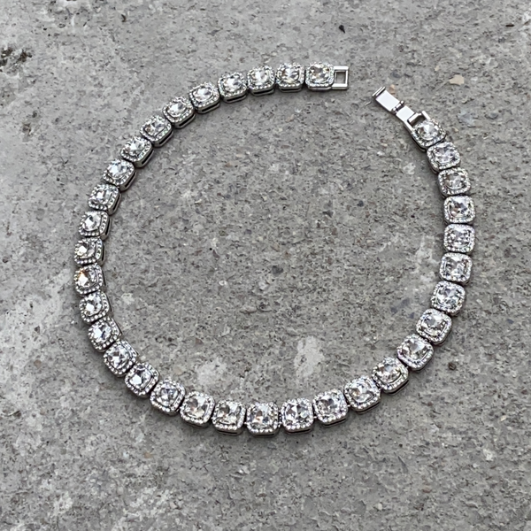 13mm Diamond Block Choker - White Gold