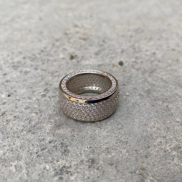 Barrel Ring - White Gold