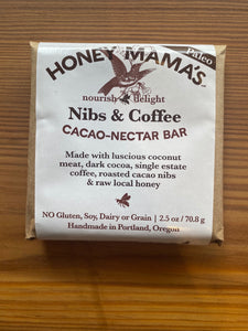 Honey Mamma's Nibs & Coffee Chocolate Bar