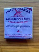 Load image into Gallery viewer, Honey Mamma's Lavender Red Rose Chocolate Bar