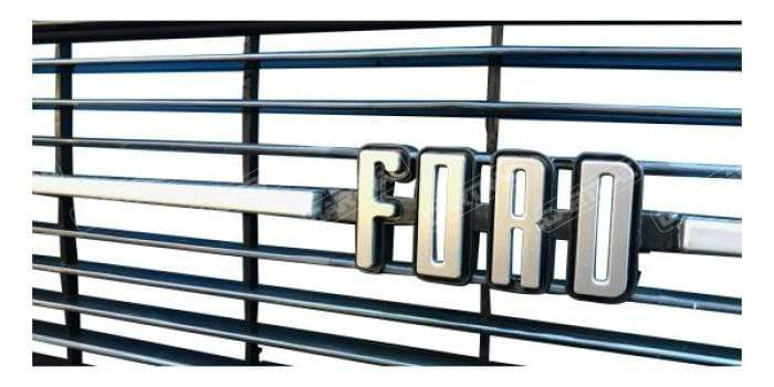 OEM Escort Mk2 Front Grille With Ford Lettering, Round Headlight