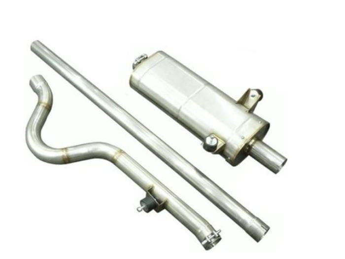 "Simpson Race Exhausts Simpson Stainless Steel Single Box Exhaust System 2.5"" Bore: Ford Pinto for Escort Mk1/Mk2"