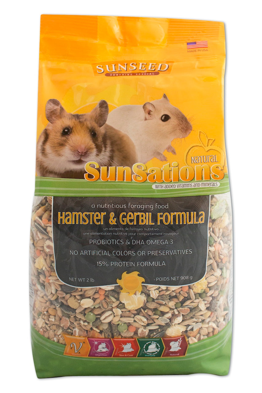 Alimentation Hamster sunseed sunsations natural hamster & gerbil formula 2 lbs