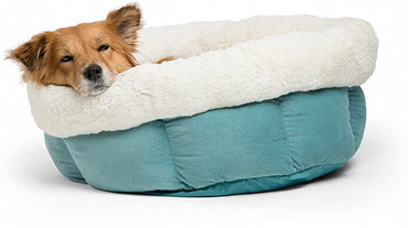 Sleepy Dog Peanut Cuddle Cup Dog Bed Blue 24 X 24 X 9 Inch