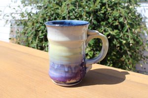 Medium-Tall Mug, Yellow-Blue-Purple