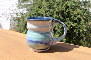 Rounded, Medium Mug - Blue-Green Multicolored