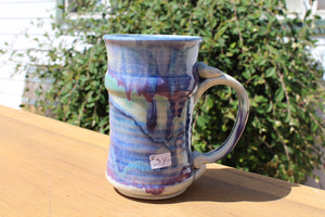 Large, Tall Mug - Blue-Green-Maroon