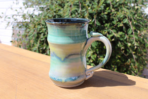 Medium, Tall Mug - Blue, Green, Yellow