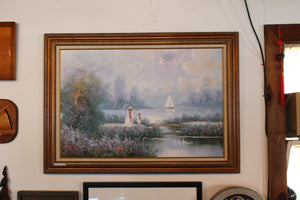 White Dresses on Lake, Painting