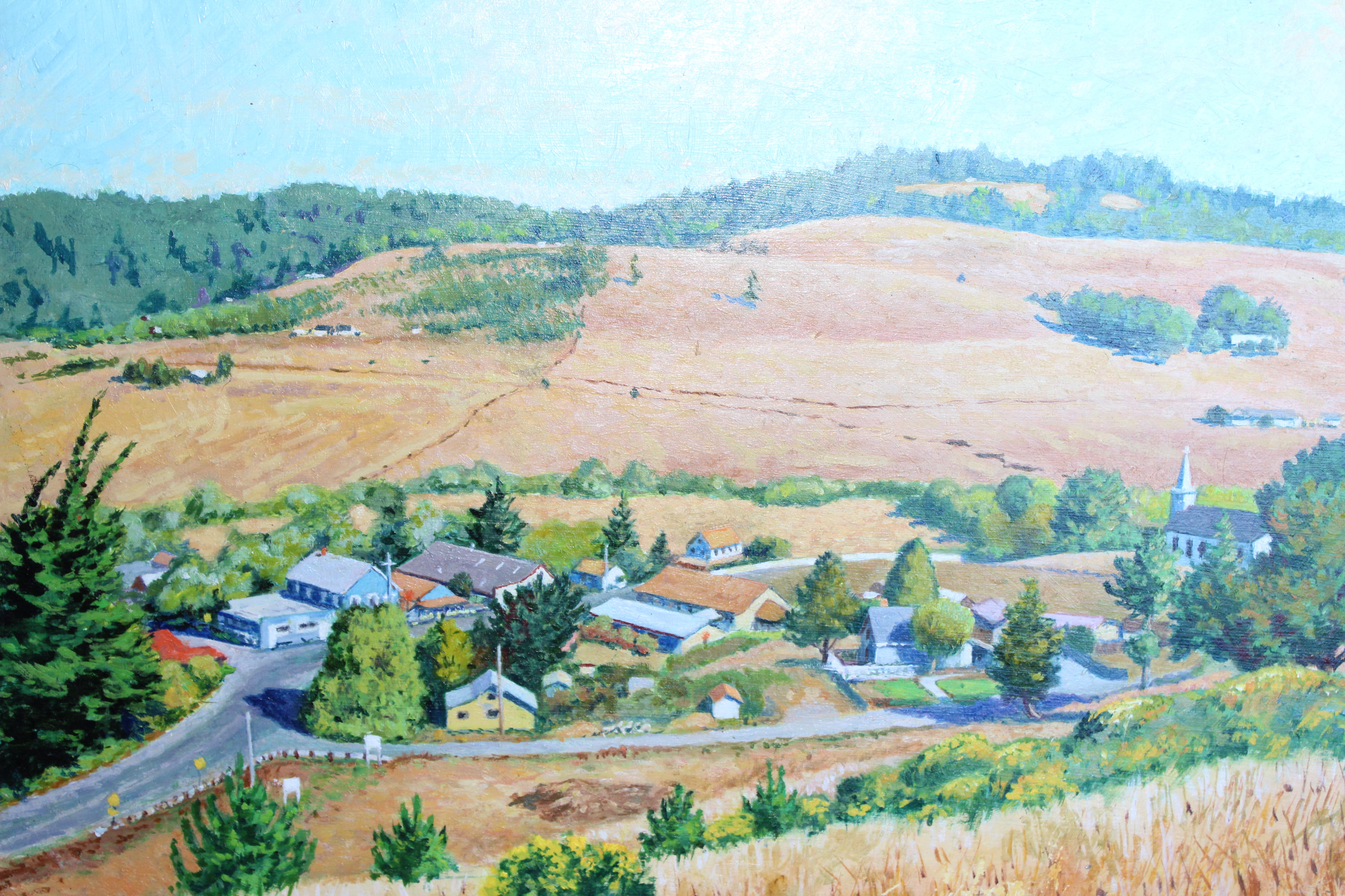 Town of Bodega, Original Oil by William Taylor