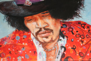Jimi, Original Oil by Thomas Glass Phinnessee