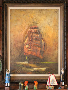 Vintage Ship Painting