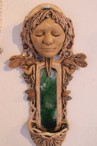 Ceramic Wall Planter, Fairy