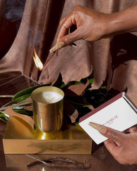Take a moment for yourself, put on your favorite playlist, light a SKNMUSE candle and experience a new level of self-love with our newest product. The SKNMUSE candle is a Soy-based candle crafted with unique scents and created to uplift every space.